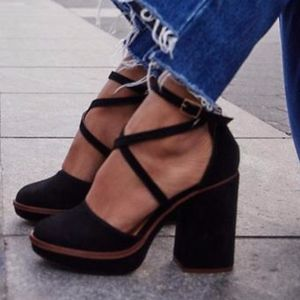 NEW Free people Remi platform heels ankle strappy